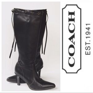 Coach Bella Leather Knee Hi Boots 7.5
